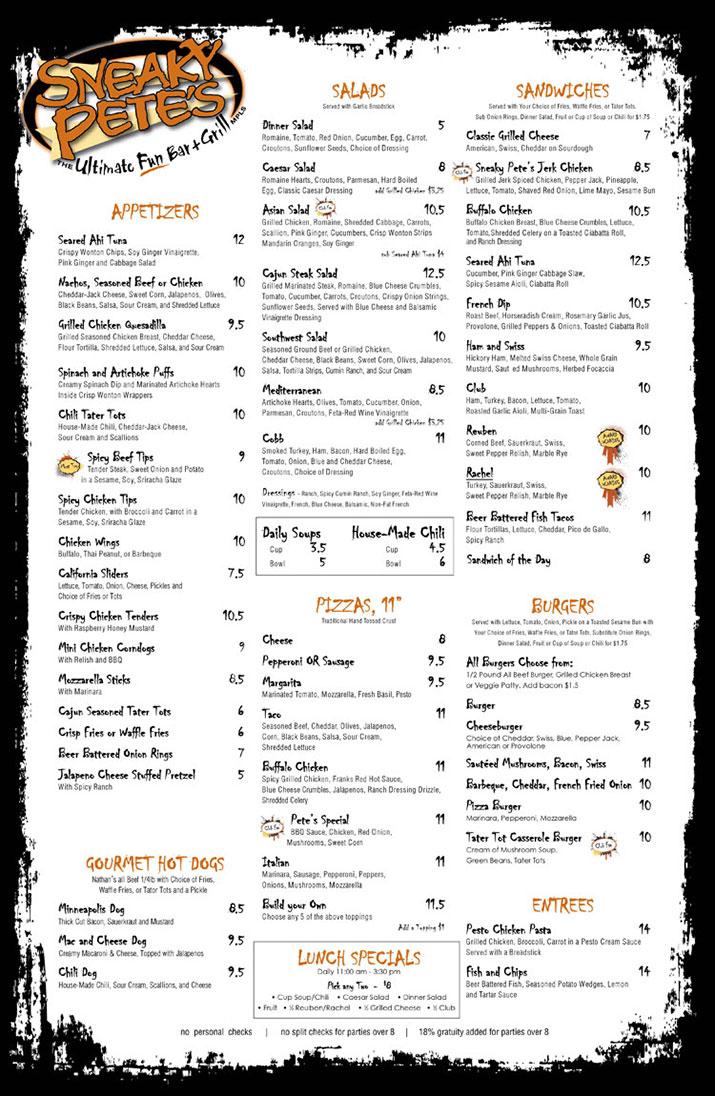 Sneaky Pete's your Minneapolis Restaurants | Dining